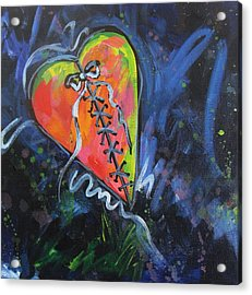 Bright Mended Broken Heart Acrylic Print by Carol Suzanne Niebuhr