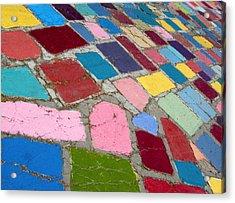 Bright Paving Stones Acrylic Print
