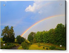 Acrylic Print featuring the photograph Bright Rainbow by Kathryn Meyer