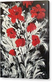 Bright Red Poppies Acrylic Print