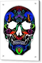 Bright Skull Acrylic Print