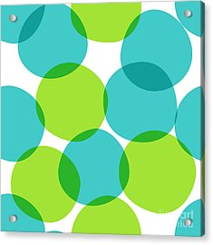 Bright Seamless Pattern With Circles Acrylic Print by Yanakotina