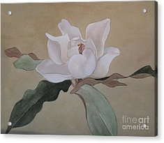 Acrylic Print featuring the painting Bright White by Nancy Kane Chapman