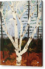 Brightest Birch Acrylic Print by Suzanne  Marie Leclair