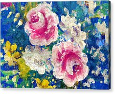 Brightly Floral Acrylic Print