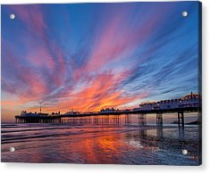 Brighton Sunset Acrylic Print