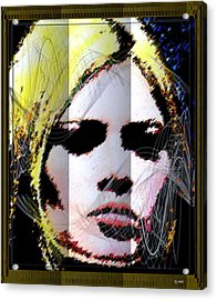 Acrylic Print featuring the digital art Brigitte Bardot by Daniel Janda