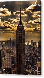 Brilliant But Hazy Manhattan Day Acrylic Print by John Farnan