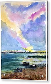 Acrylic Print featuring the painting Brilliant Sky Sold by Richard Benson