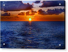 Brilliant Sunset Acrylic Print by Donna Proctor