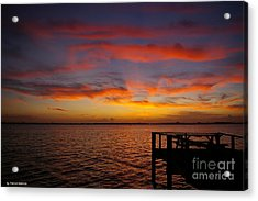 Brilliant Sunset Acrylic Print by Tannis  Baldwin