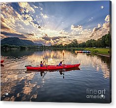 Acrylic Print featuring the photograph Bringing It In by Kari Yearous