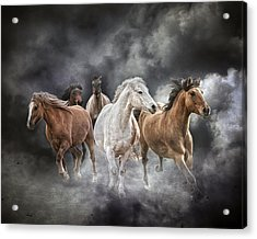 Brings The Thunder Acrylic Print by Ron  McGinnis
