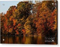 Brinton Lake Acrylic Print by Judy Wolinsky