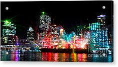 Brisbane City Of Lights Acrylic Print by Peta Thames
