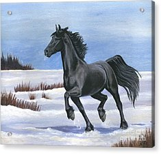 Acrylic Print featuring the painting Brisk Trot by Sheri Gordon