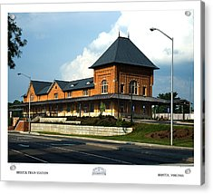 Bristol Train Station Bristol Virginia Acrylic Print by Denise Beverly