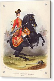Britain  A Member Of The Second Dragoon Acrylic Print by Mary Evans Picture Library