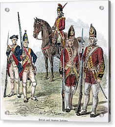 British & Hessian Soldiers Acrylic Print by Granger