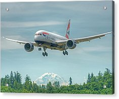 Acrylic Print featuring the photograph British Airways 787 by Jeff Cook