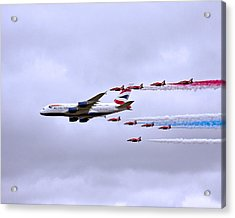 British Airways A380-841 Acrylic Print by Paul Scoullar