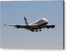 British Airways A380 Acrylic Print
