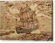 British Battleship Acrylic Print by Iliev Petkov