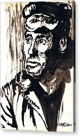 British Coal Miner Acrylic Print by Seth Weaver