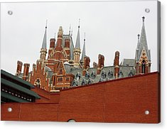 British Library And St. Pancras Acrylic Print by Pat Purdy