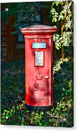 British Mail Box Acrylic Print by Paul Ward