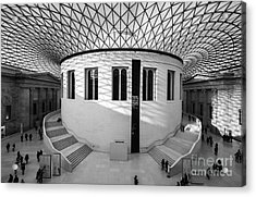 Acrylic Print featuring the photograph British Museum Black And White by Matt Malloy