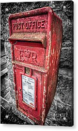 British Post Box Acrylic Print by Adrian Evans
