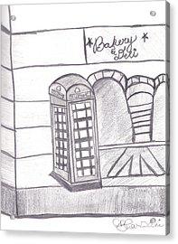 British Telephone Booth   Acrylic Print by Melissa Vijay Bharwani