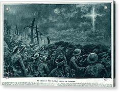 British Troops See The Cross Of Jesus Acrylic Print by  Illustrated London News Ltd/Mar