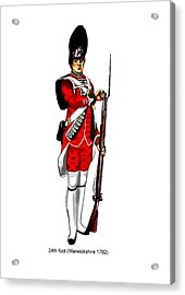 British Uniforms Acrylic Print by Valiant Knight