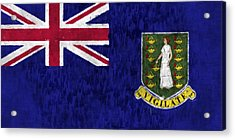 British Virgin Islands Flag Acrylic Print