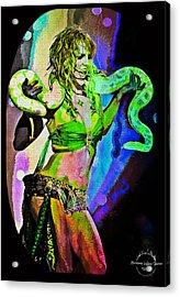 Britney Neon Dancer Acrylic Print by Absinthe Art By Michelle LeAnn Scott