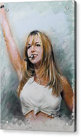 Britney Spears Acrylic Print by Viola El