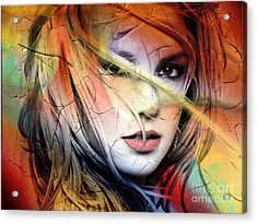 Britney-spears Acrylic Print by Mark Ashkenazi