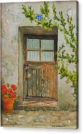 Brittany  Door Acrylic Print by Mary Ellen Mueller Legault