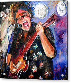 Brittany Howard Of The Alabama Shakes Acrylic Print by Carole Foret