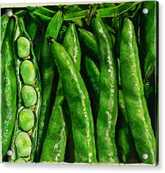 Broad Beans Acrylic Print by Arual Jay