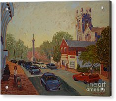 Broad St Westfield  Acrylic Print by Monica Caballero