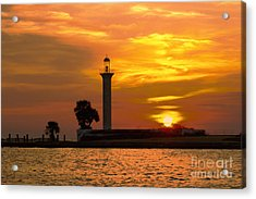 Acrylic Print featuring the photograph Broadwater Lighthouse by Maddalena McDonald