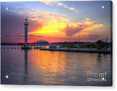 Acrylic Print featuring the photograph Broadwater Marina by Maddalena McDonald