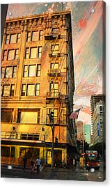 Broadway And Ninth Facing West Acrylic Print by John Fish