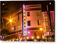 Acrylic Print featuring the photograph Broadway At Night by Suzanne Luft