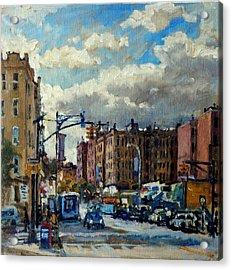 Broadway Backlight New York City Acrylic Print by Thor Wickstrom