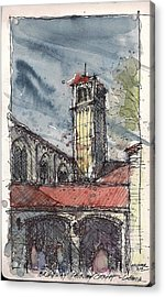 Acrylic Print featuring the mixed media Broadway Church Of Christ Study by Tim Oliver