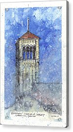 Broadway Church Tower Acrylic Print by Tim Oliver
